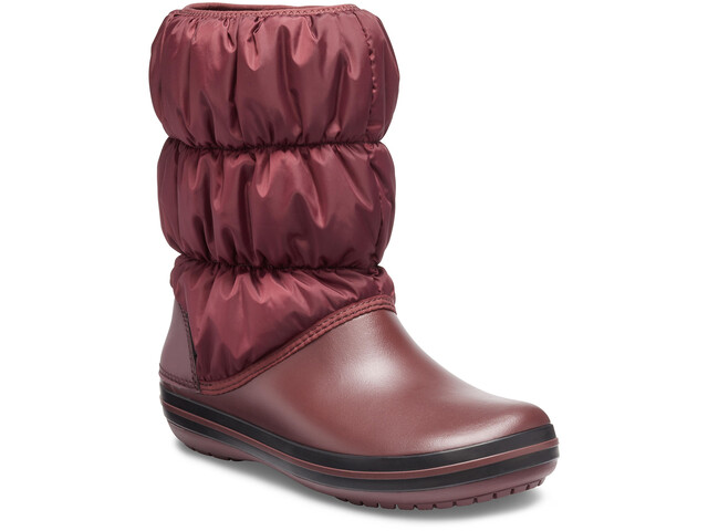 Crocs Winter Puff Saappaat Naiset, burgundy/black